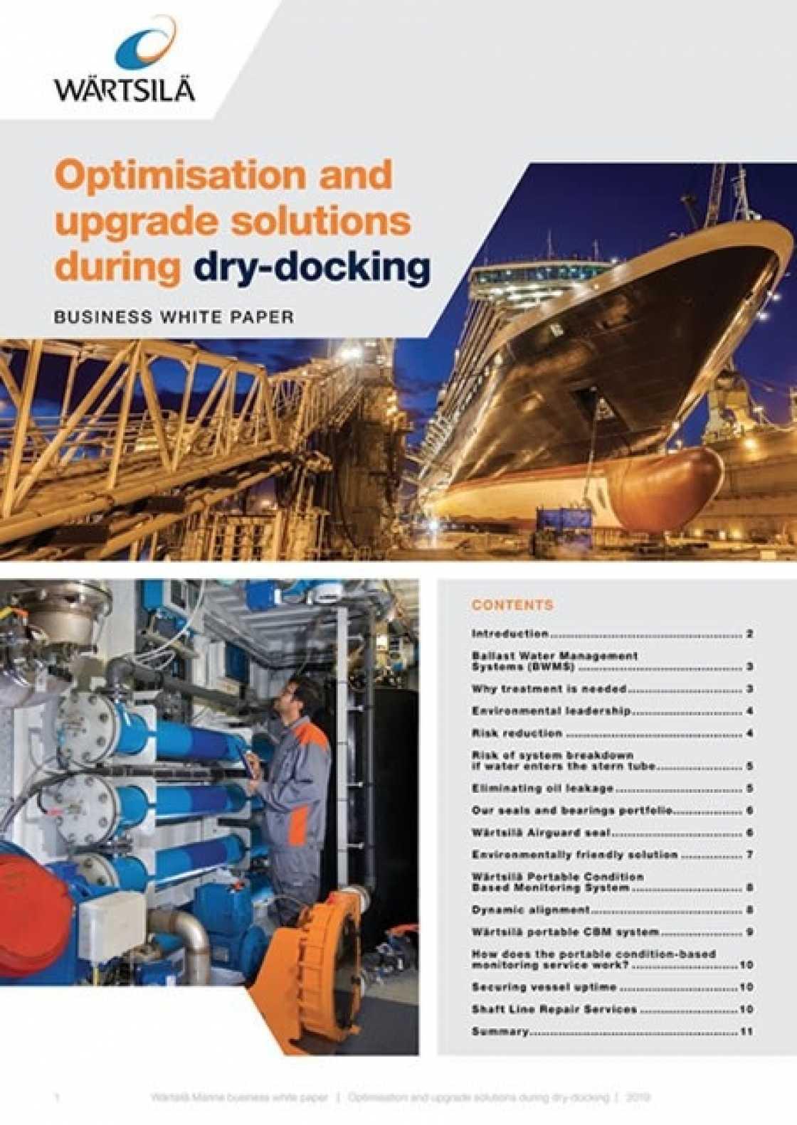Whitepaper: Optimisation and upgrade solutions during dry-docking - Wärtsilä