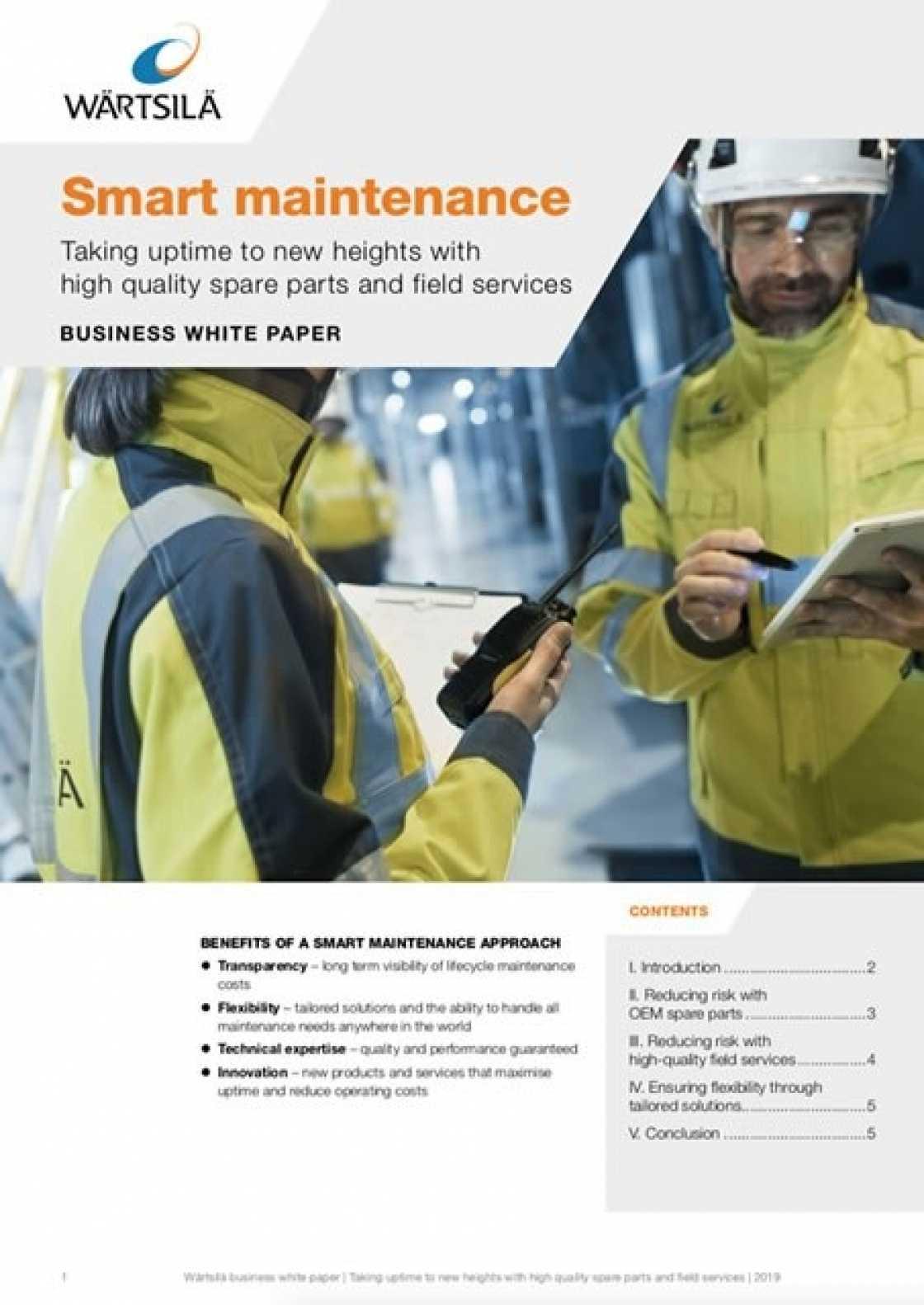 Whitepaper: Smart Maintenance - Wärtsilä