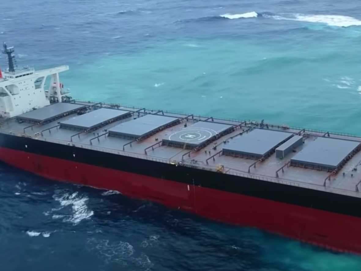 Master and Chief Officer of Wakashio detained by Mauritius