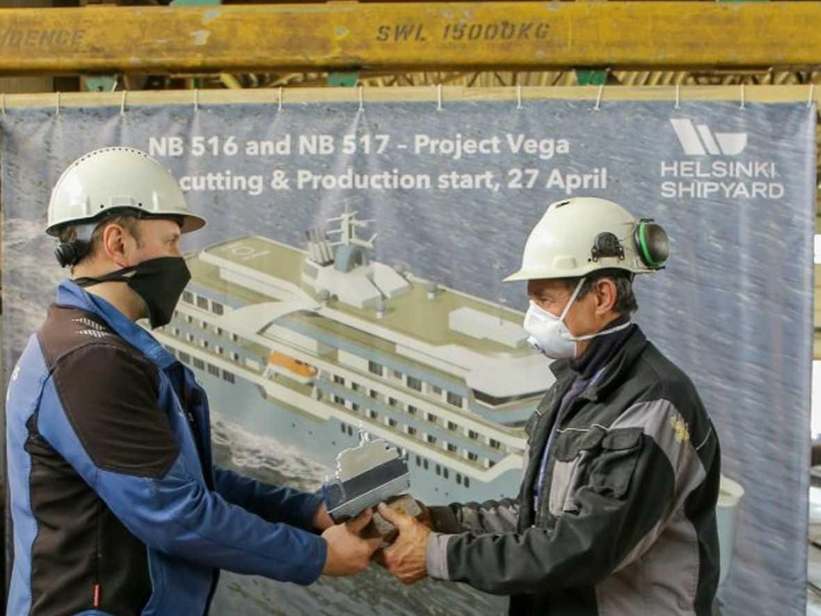 Work underway on expedition cruise ships at Helsinki Shipyard