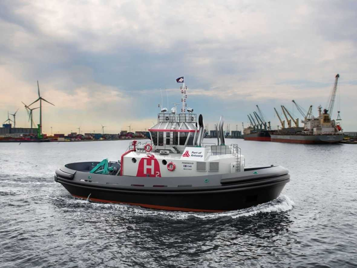 Antwerp claims world first with hydrogen fuelled tug