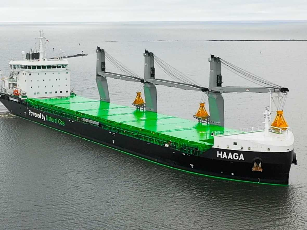 ESL shipping claims Finnish first as vessel runs on biogas