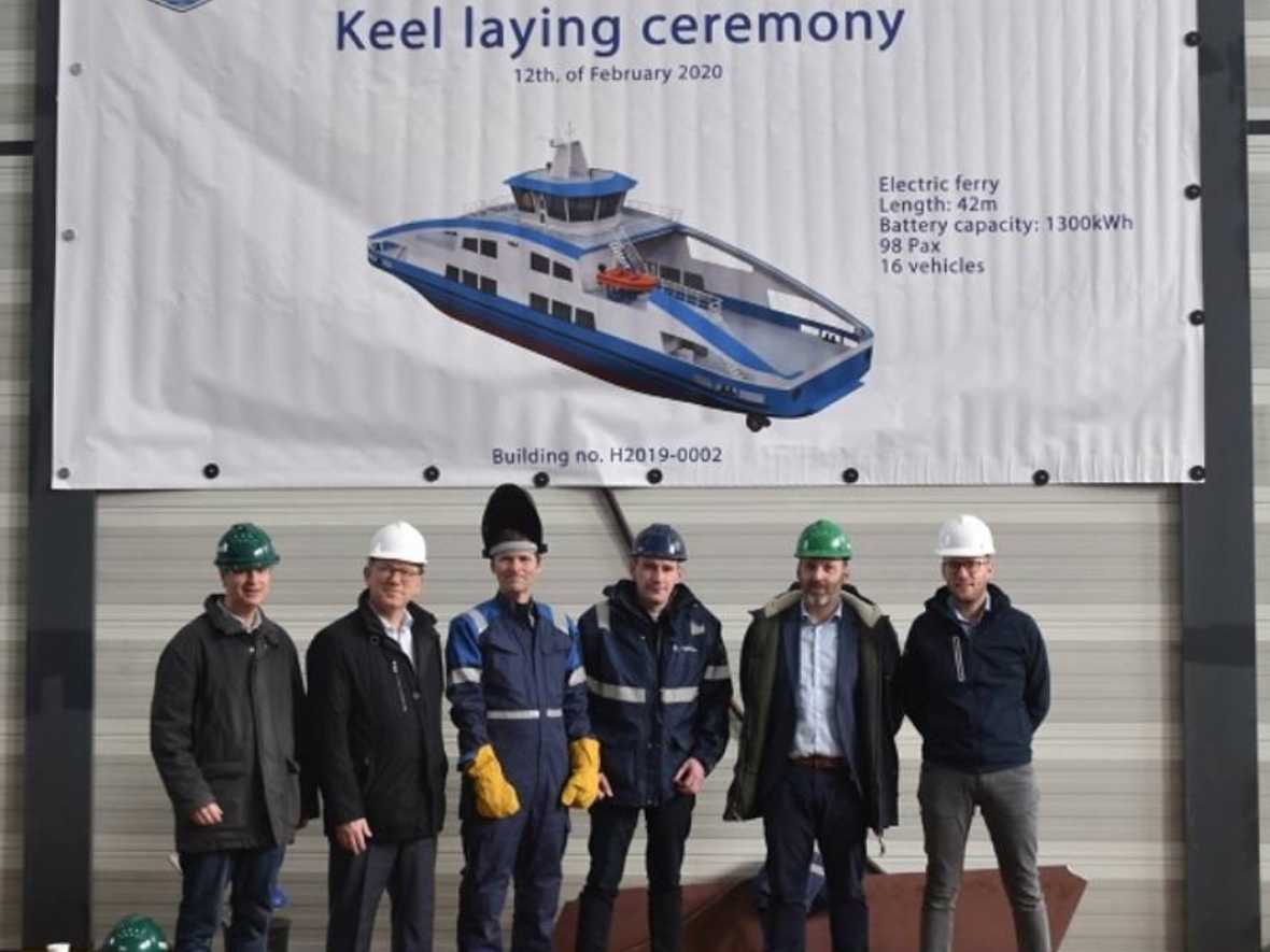 Holland Shipyards starts work on electric ferry