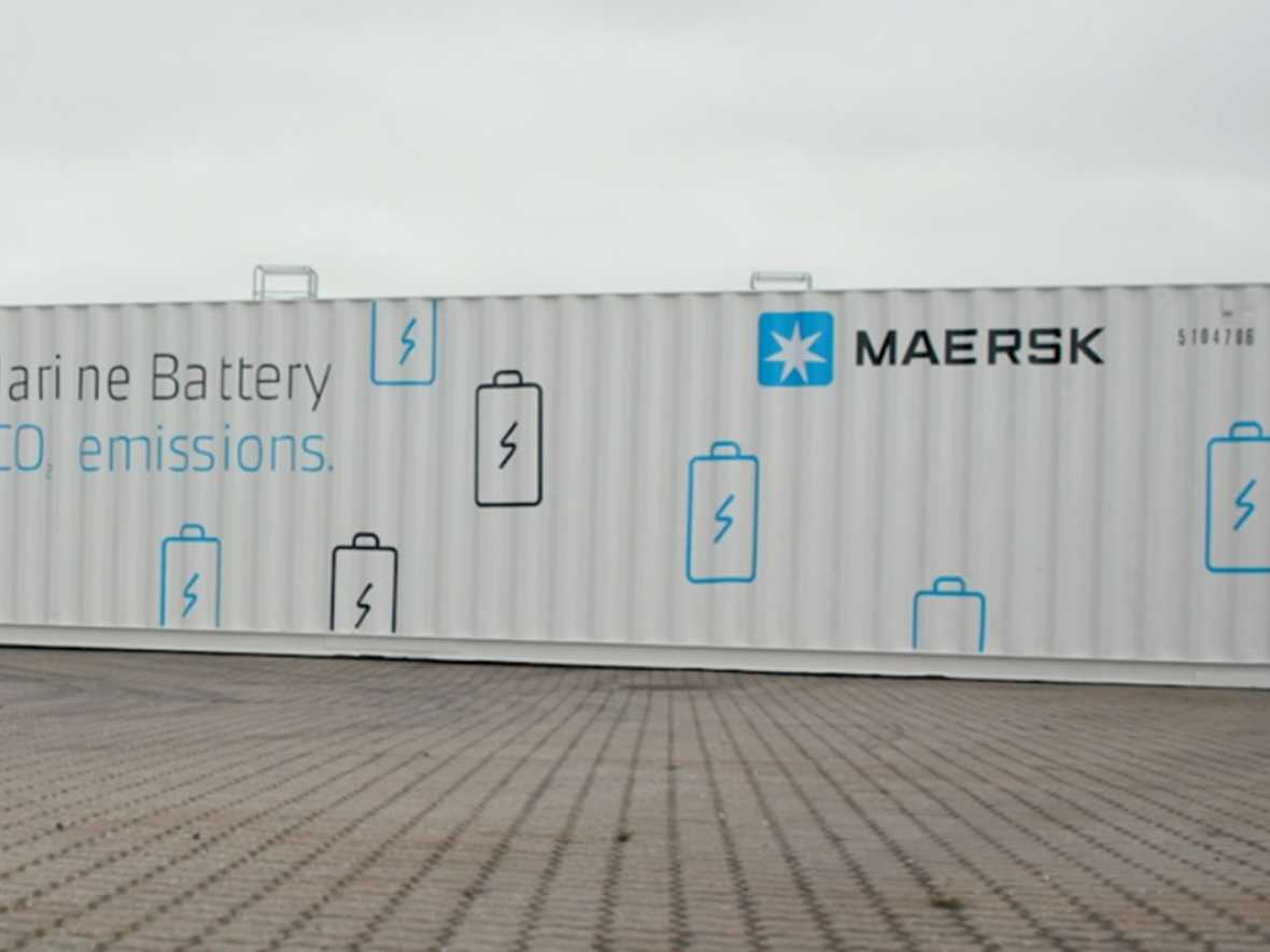 Maersk boxship to pioneer battery use