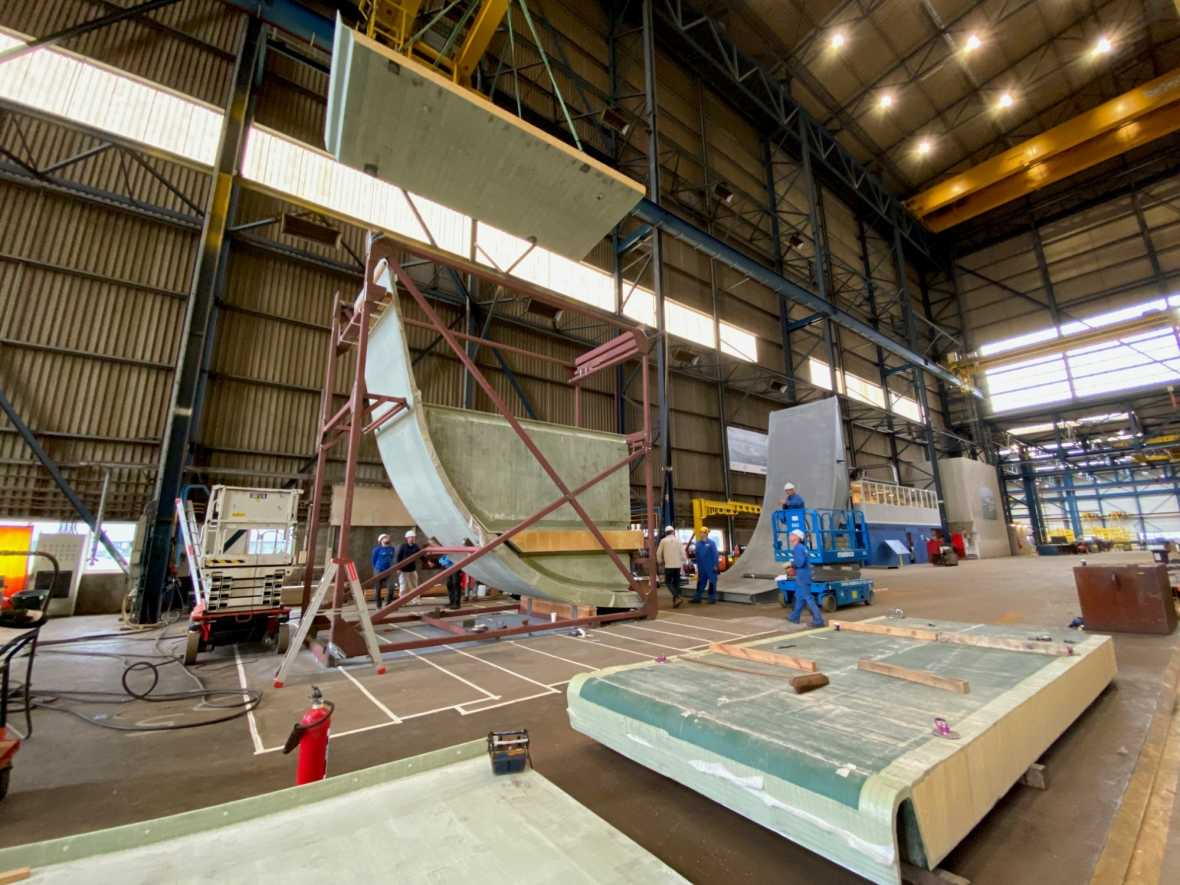 Damen tests composites as RAMSSES project reaches significant milestone
