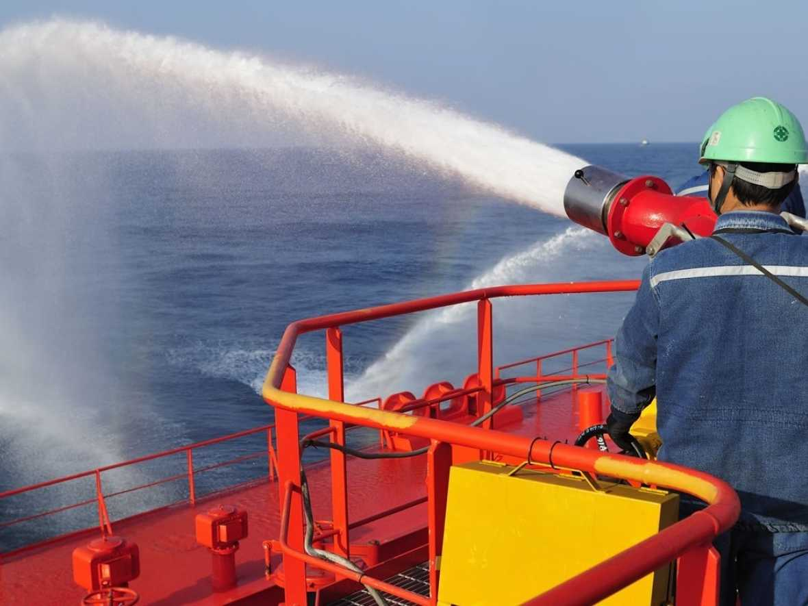 Shipboard fire-fighting systems