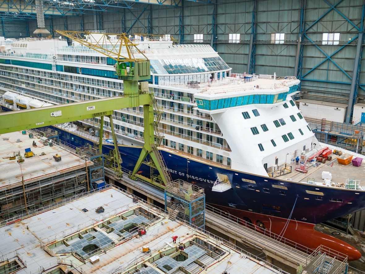 Saga's Spirit of Adventure launched by Meyer Werft