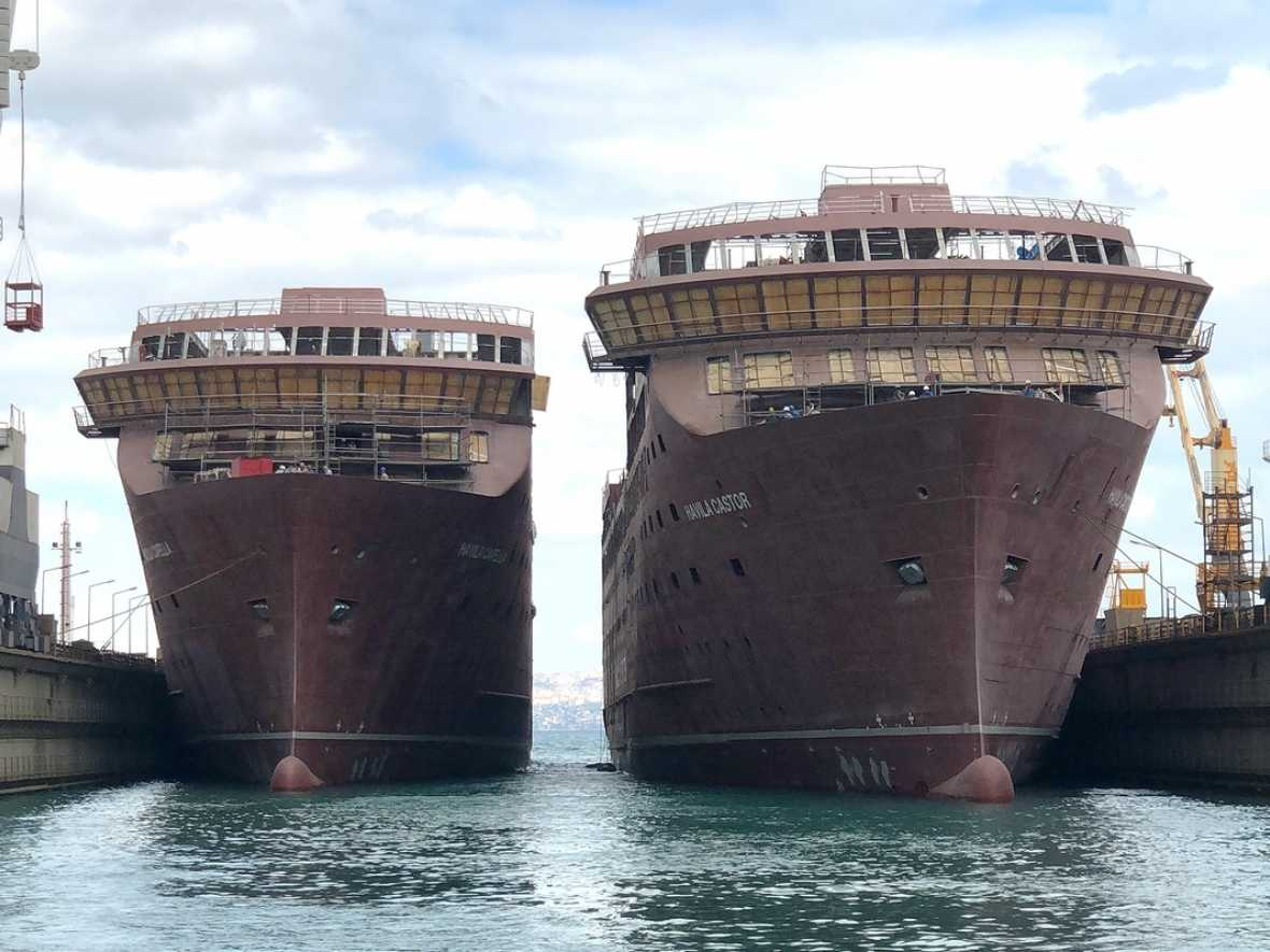 Tersan splashes first two Havila Voyages newbuilds