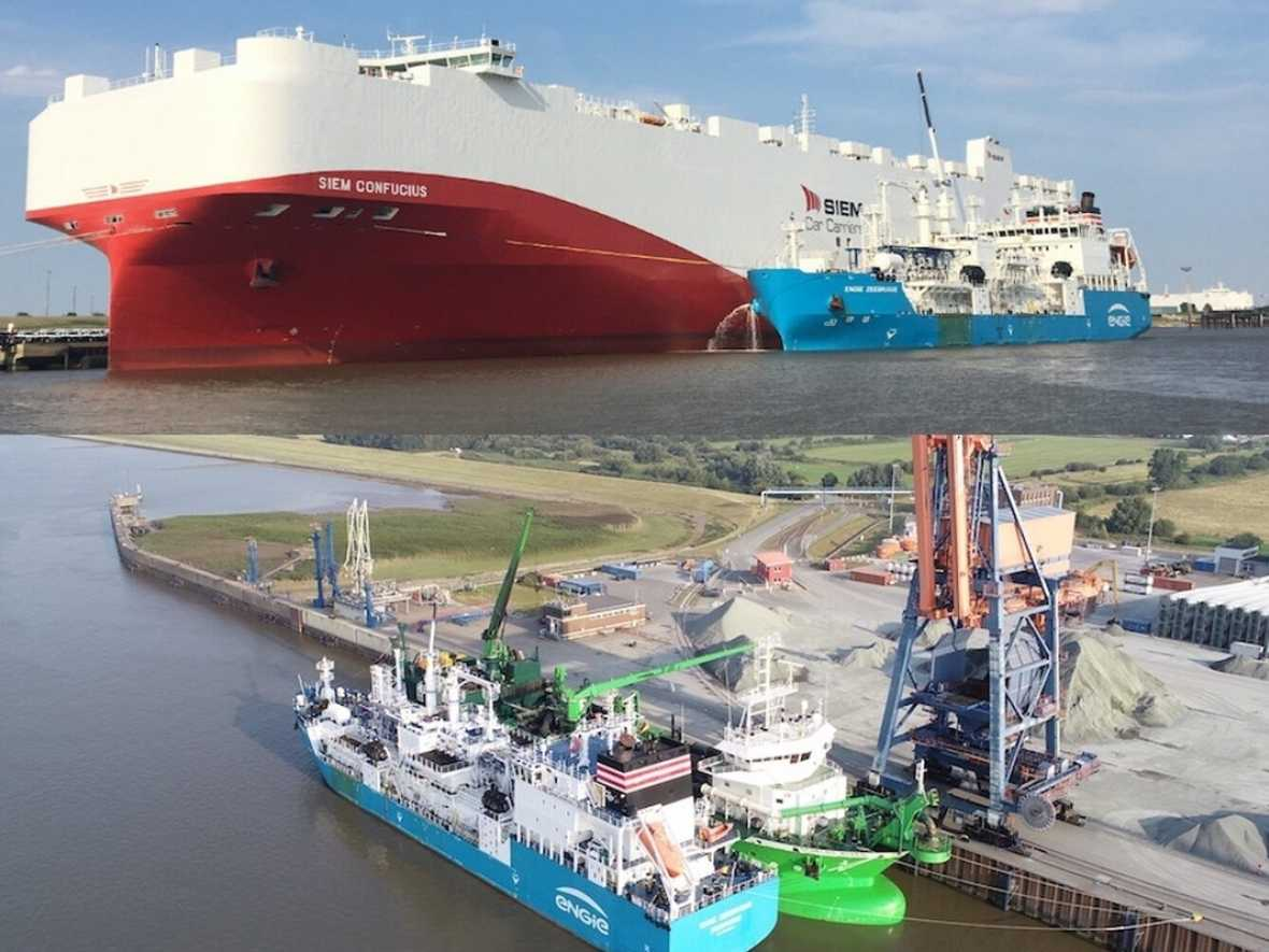 Titan LNG delivers in two German ports
