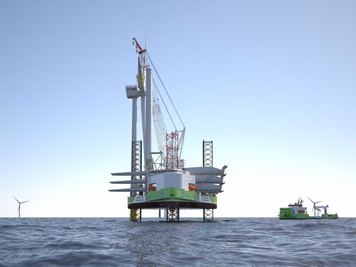 Ulstein offers hydrogen-fuelled design for offshore wind