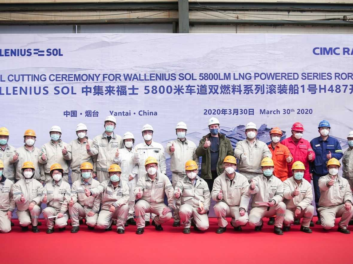 Work starts on world's largest LNG ro-ro