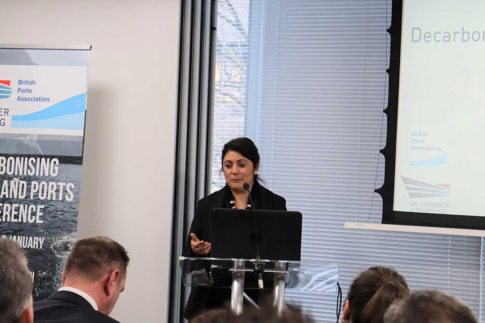 Nusrat Ghani at the UKCS decarbonisation conf