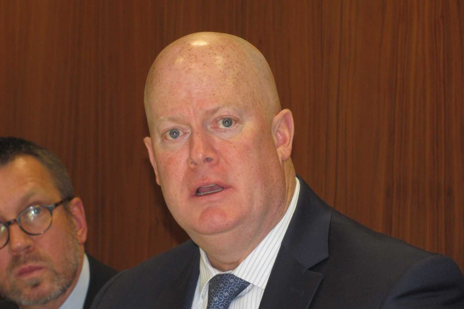 Sean Dalton chair of IUM Is Cargo Committee GPG Pic at IUMI Press conf 11 2 20