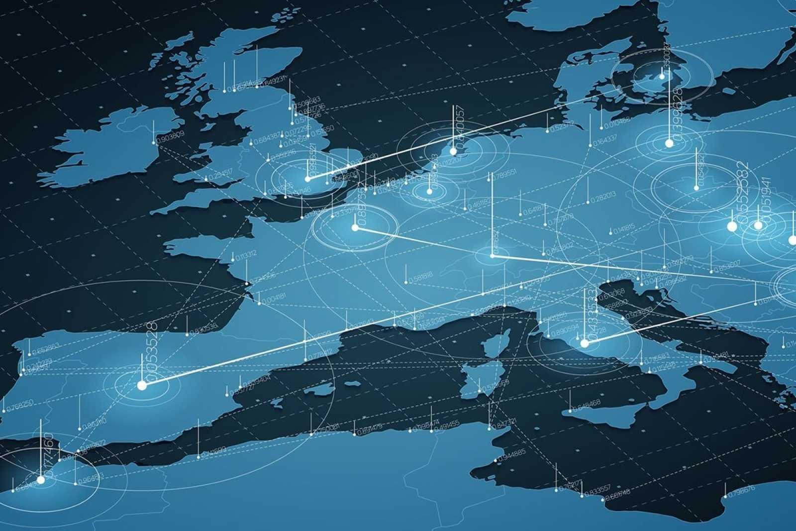 Europe map 75ne6tfgc