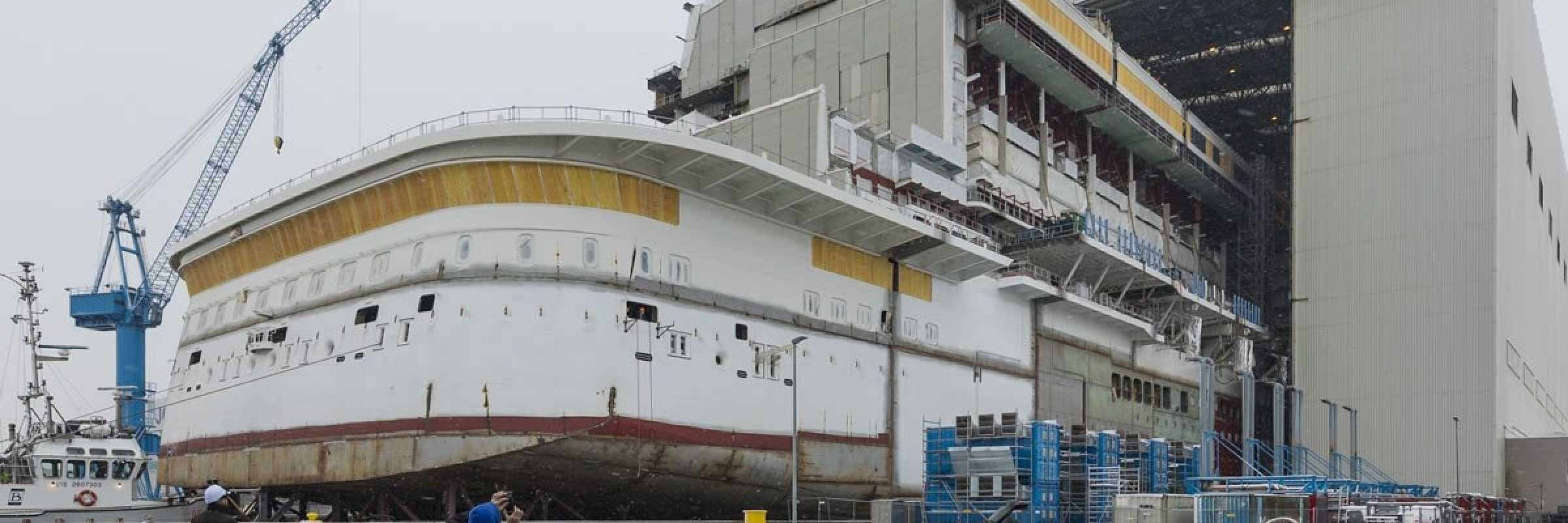 Meyer Werft readies world's first LNG liner for float-out