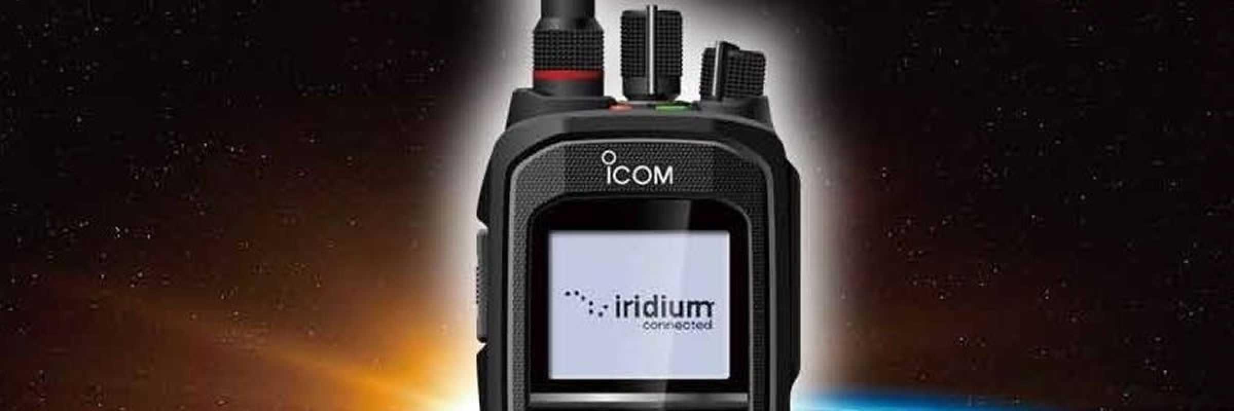 Iridium and Icom debut handheld Satellite PTT radio