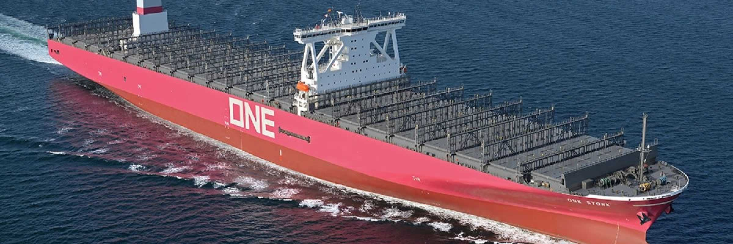First containership in ONE's corporate colour delivered