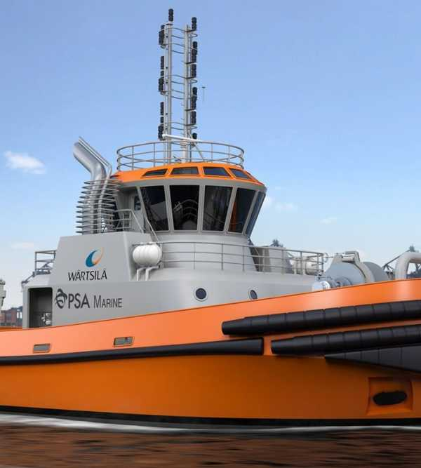 PSA Marine's new LNG-fuelled harbour tug to be designed and equipped by Wärtsilä